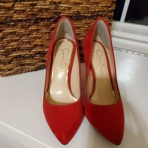 Beautiful red jessica Simpson heels!